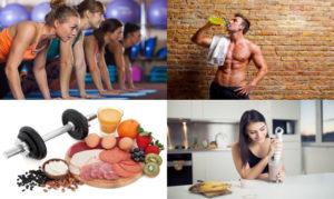fitness-food-montage